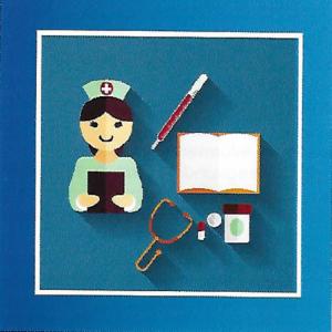 Afbeelding van doktor met instrumenten