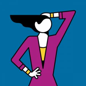 Flatdesign van een vrouw