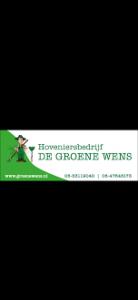 Logo van het hoveniersbedrijf de groene wens